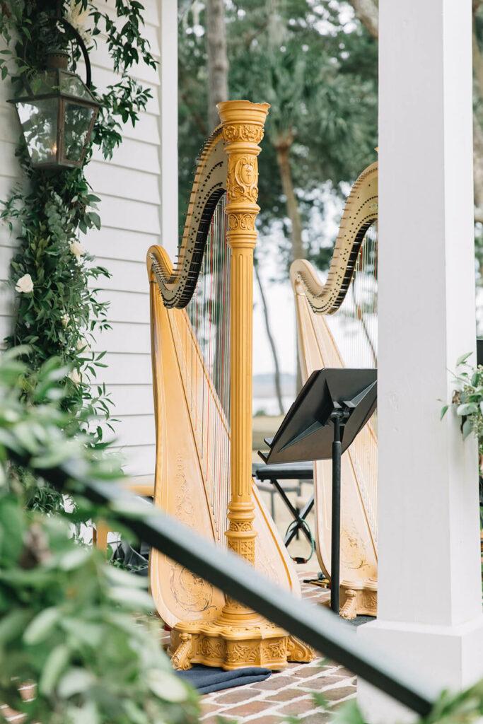 charleston wedding harp player
