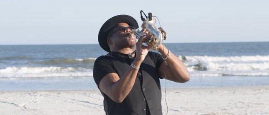 Charleston wedding saxophone player Dave on Folly Beach
